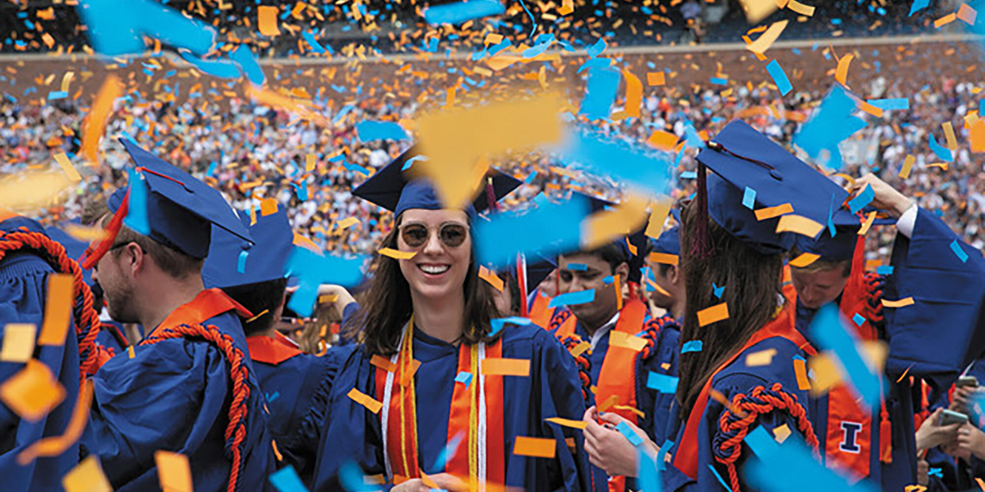 Graduation ceremony at University of Illinois.